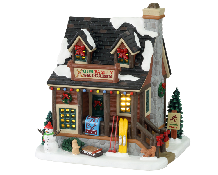 Lemax Village Collection Our Family Ski Cabin # 15748