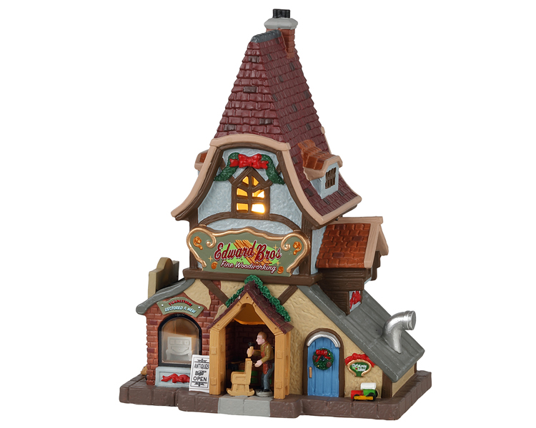 Lemax Village Collection Edward Bros. Fine Woodworking # 15772