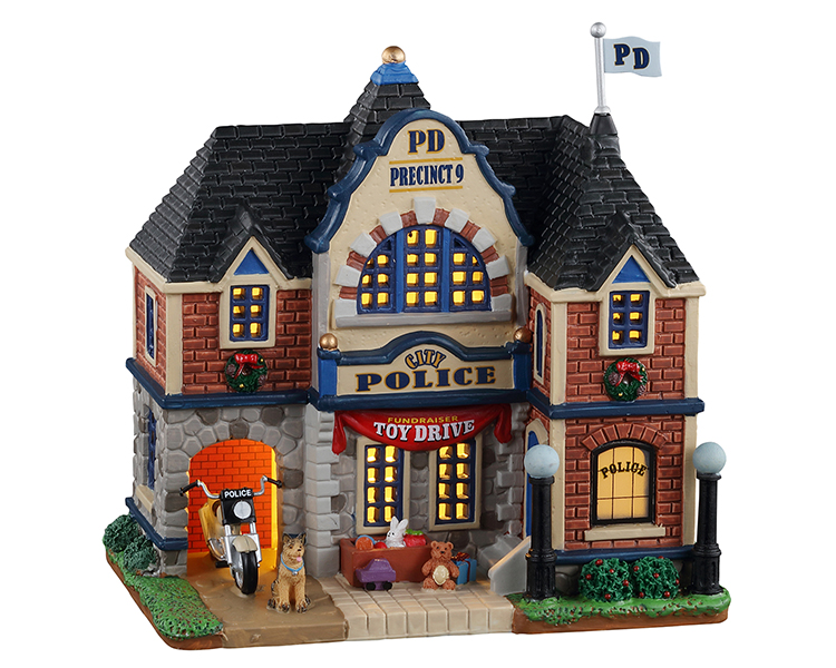 Lemax Village Collection City Police Station # 15777