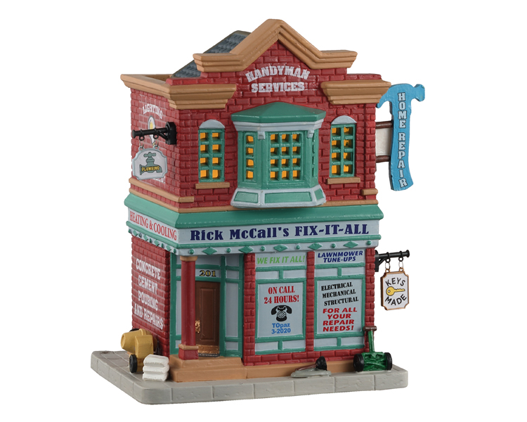 Lemax Village Collection Rick Mccall's Fix-It-All # 15781