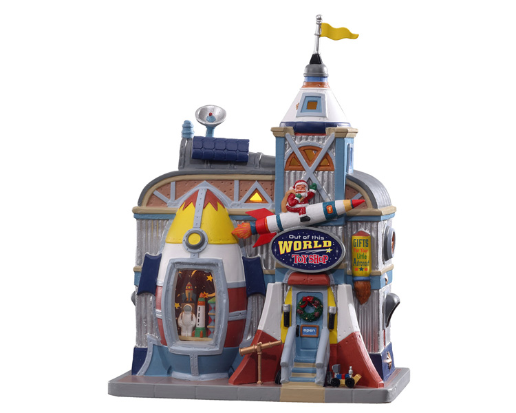 Lemax Village Collection Out Of This World Toy Shop # 15791
