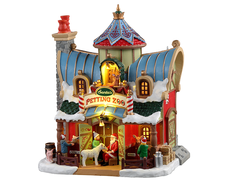 Lemax Village Collection Santa's Petting Zoo Battery Operated # 15792