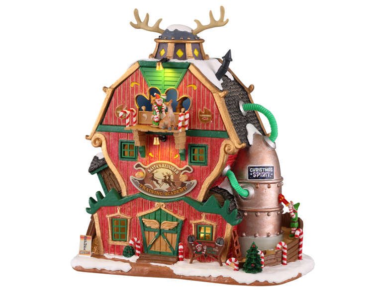 Lemax Village Collection Santa's Reindeer Training Academy Battery Operated # 15793