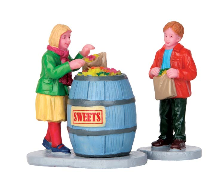 Lemax Village Collection Candy Hunters Set of 2 # 52382