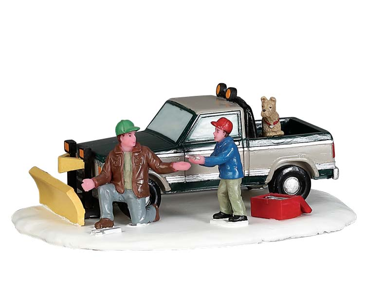 Lemax Village Collection Snow Plow Set-Up # 53224