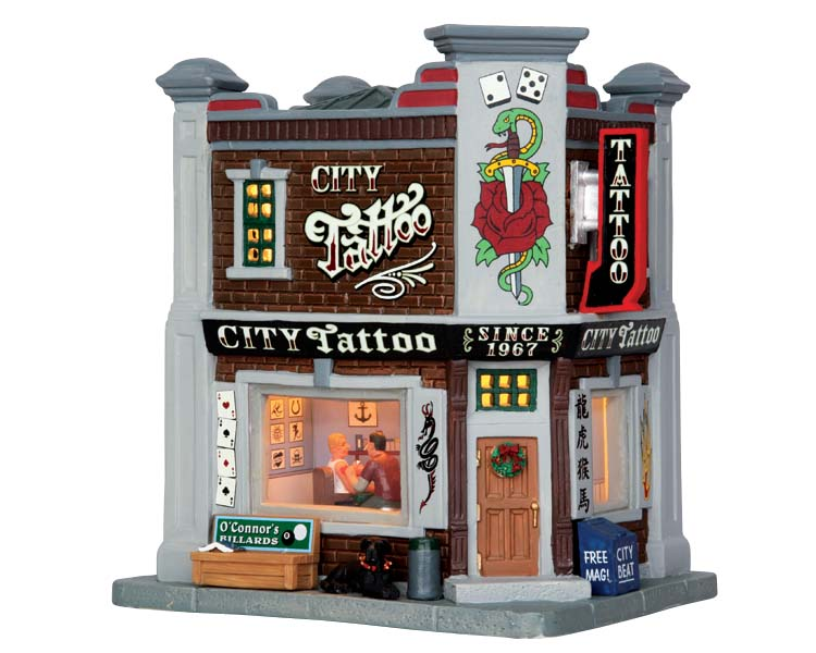 Lemax Village Collection City Tattoo # 55005