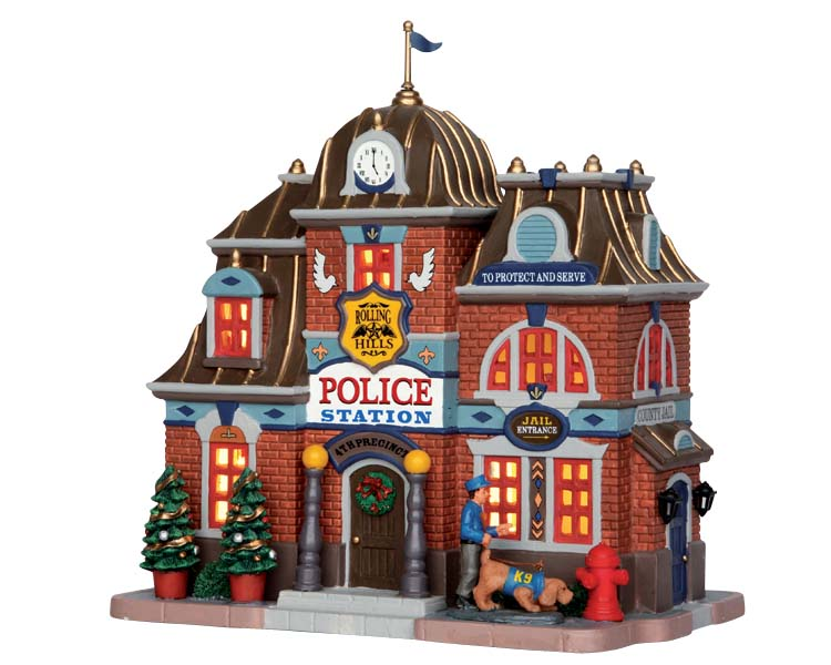 Lemax Village Collection Rolling Hills Police Station # 55018
