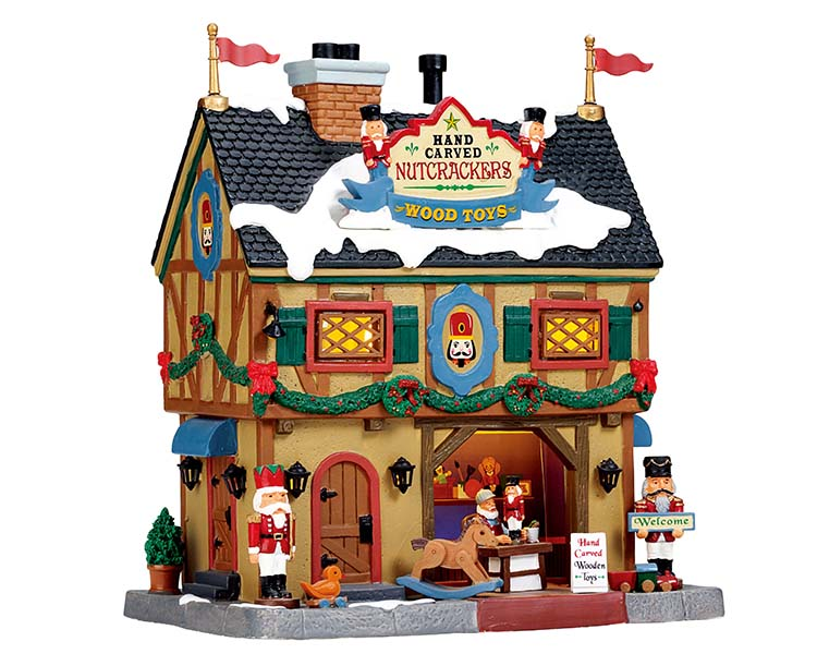 Lemax Village Collection Nutcracker & Wood Toy Carve # 55994