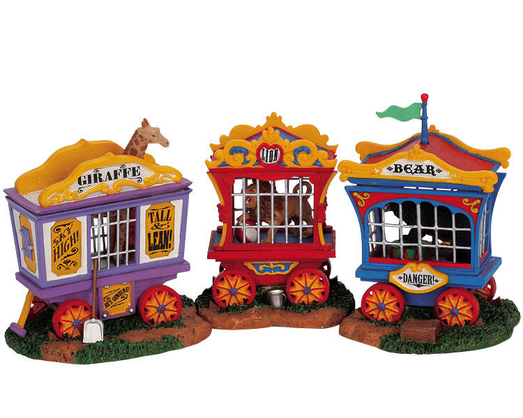 Lemax Village Collection Animal Cages Set of 3 # 63581