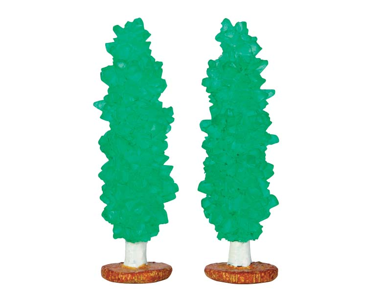 Lemax Village Collection Rock Candy Tree Set of 2 # 64113