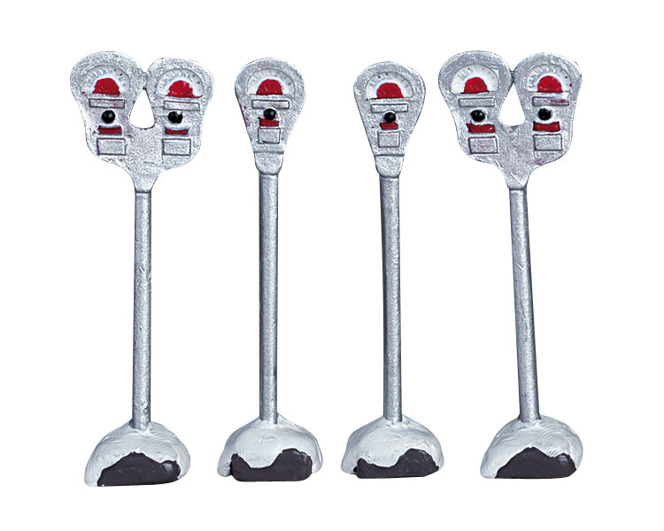 Lemax Village Collection Parking Meters Set of 4 # 64480