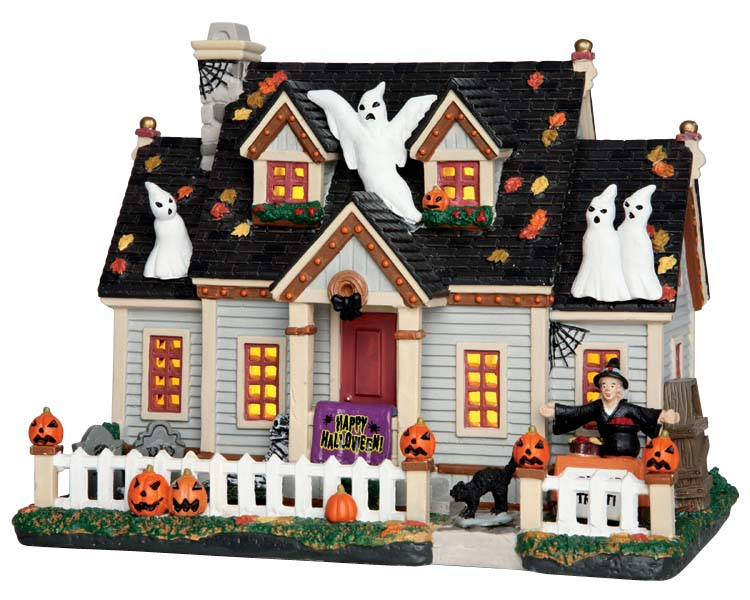 **NO OUTER BOX** Lemax Spooky Town Trick Or Treat House # 65074 **READ DESCRIPTION**