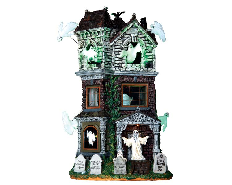 Lemax Spooky Town Ghostly Manor with Adaptor # 65122
