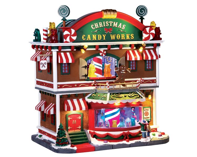 Lemax Village Collection Christmas Candy Works with Adaptor # 65164
