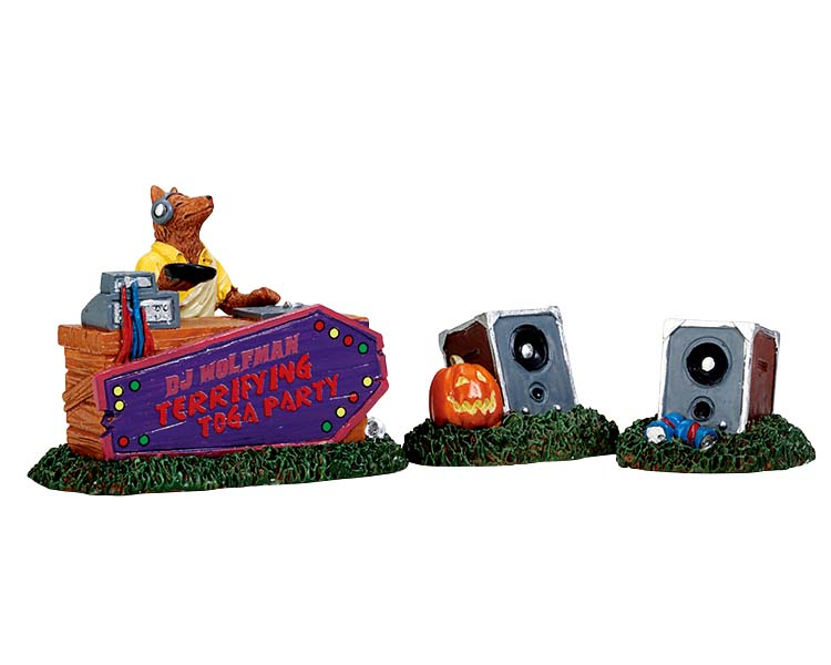 Lemax Spooky Town DJ Wolfman Set of 3 # 72486