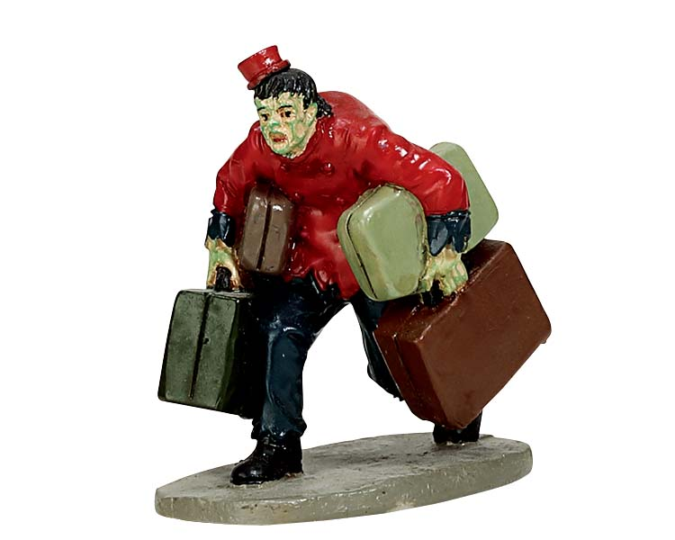 Lemax Spooky Town Creepy Bellboy # 72495