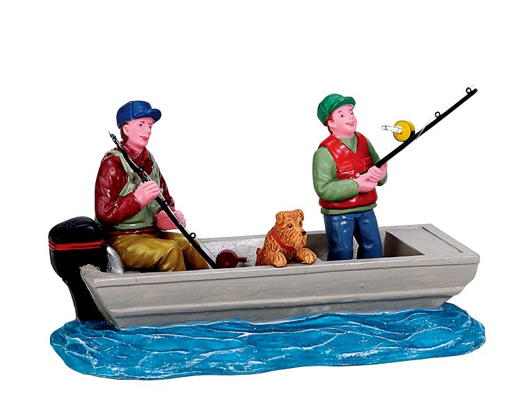 Lemax Village Collection Family Fishing Trip # 72521