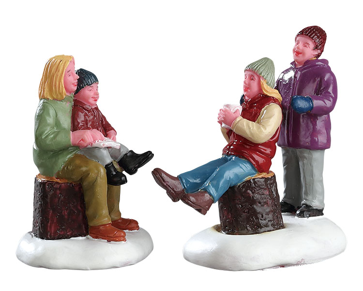 Lemax Village Collection Quality Time With Mom Set of 2 # 72524