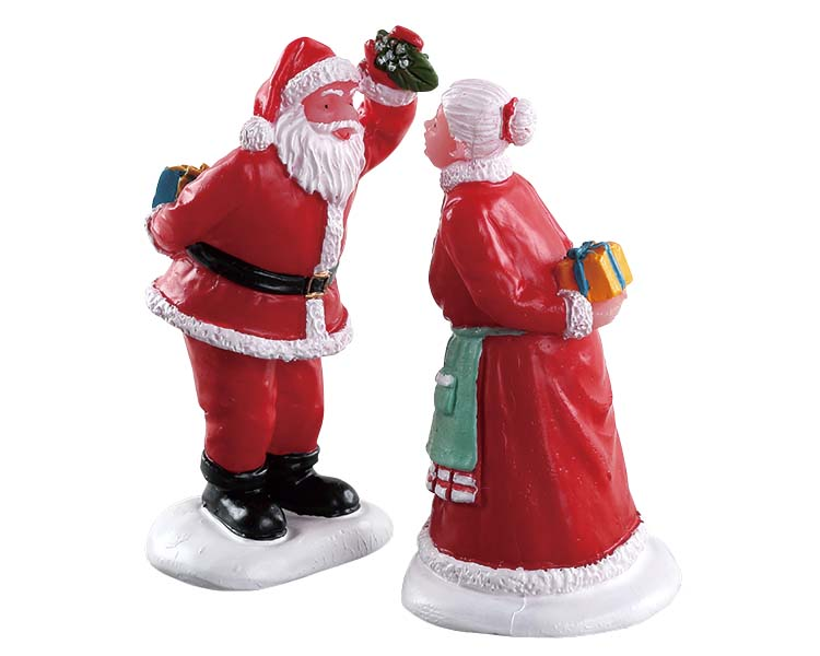 Lemax Village Collection Under The Mistletoe Set of 2 # 72550