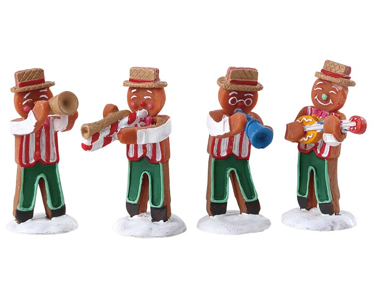 Lemax Village Collection Gingerbread Jazz Set of 4 # 72562