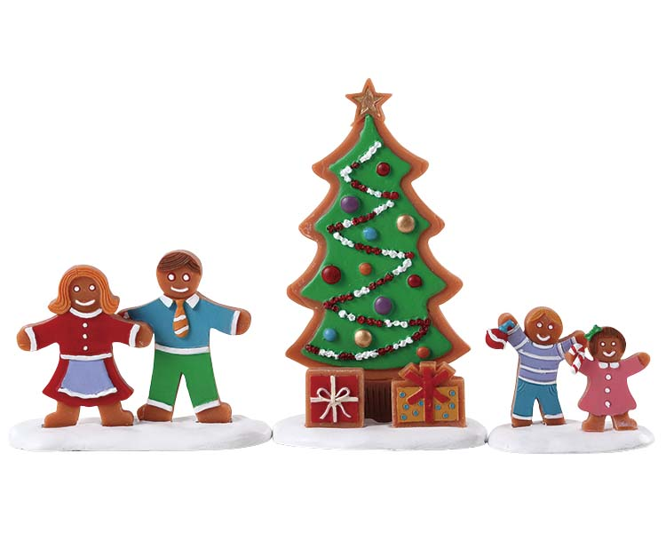 Lemax Village Collection Decorating The Tree Set of 3 # 72565