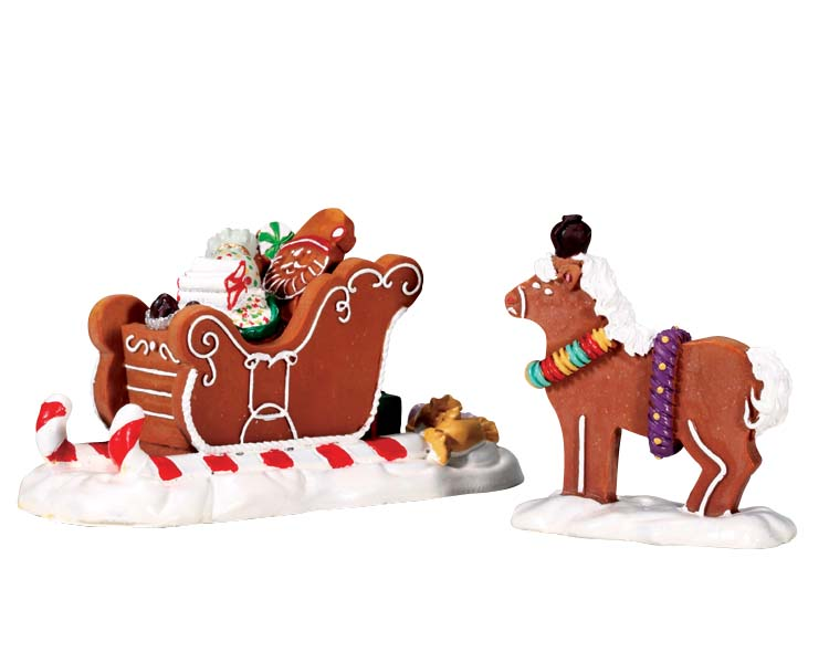Lemax Village Collection Santa's Sleighride Set of 2 # 73294
