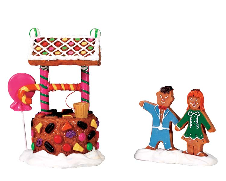 Lemax Village Collection Wishing Well Of Delight Set of 2 # 73295