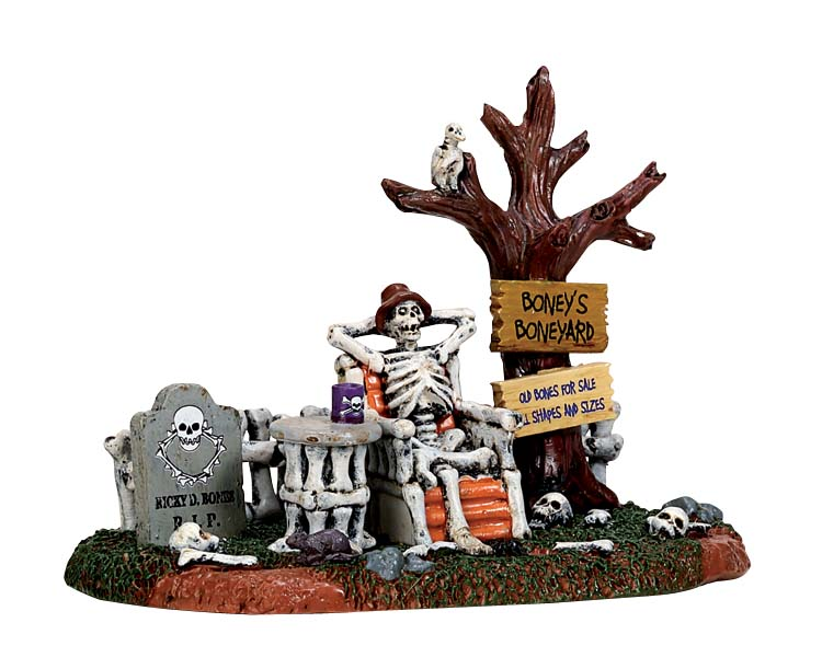 Lemax Spooky Town Welcome To The Boneyard # 73296