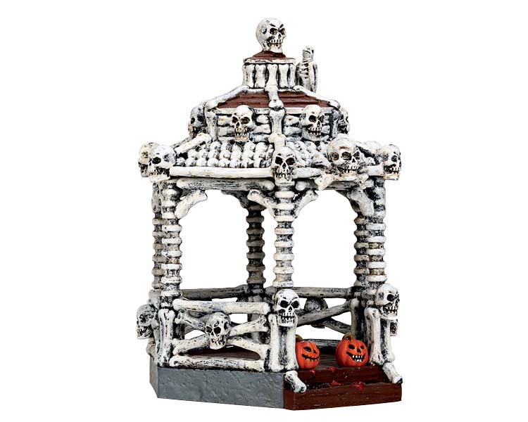 Lemax Spooky Town New Skeleton Gazebo # 73300
