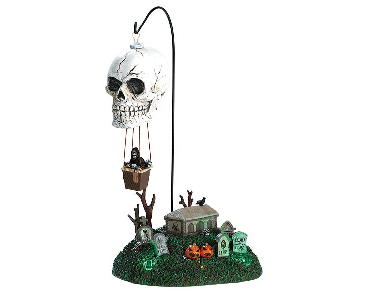 Lemax Spooky Town Reaper's Landing with Adaptor # 74202