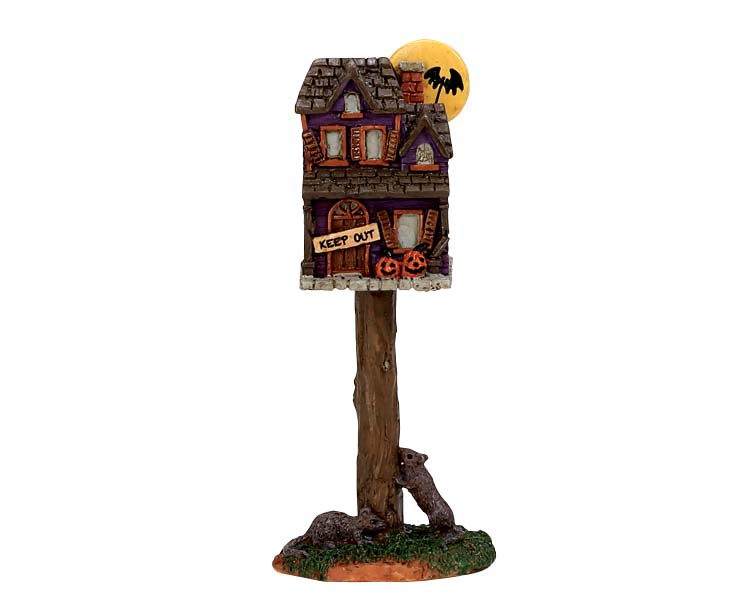 Lemax Spooky Town Full Moon Birdhouse # 74216
