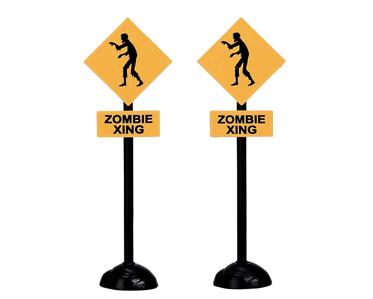 Lemax Spooky Town Zombie Crossing Set of 2 # 74218