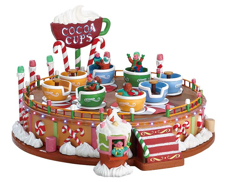 Lemax Village Collection Cocoa Cups with Adaptor # 74222