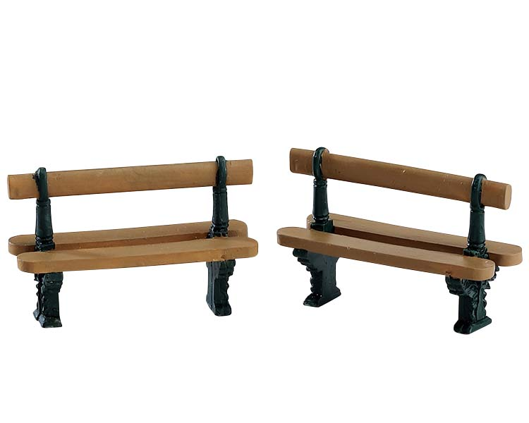 Lemax Village Collection Double Seated Bench Set of 2 # 74235