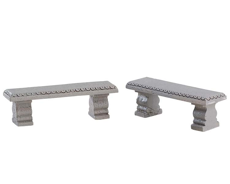 lemax plaza bench set of 2