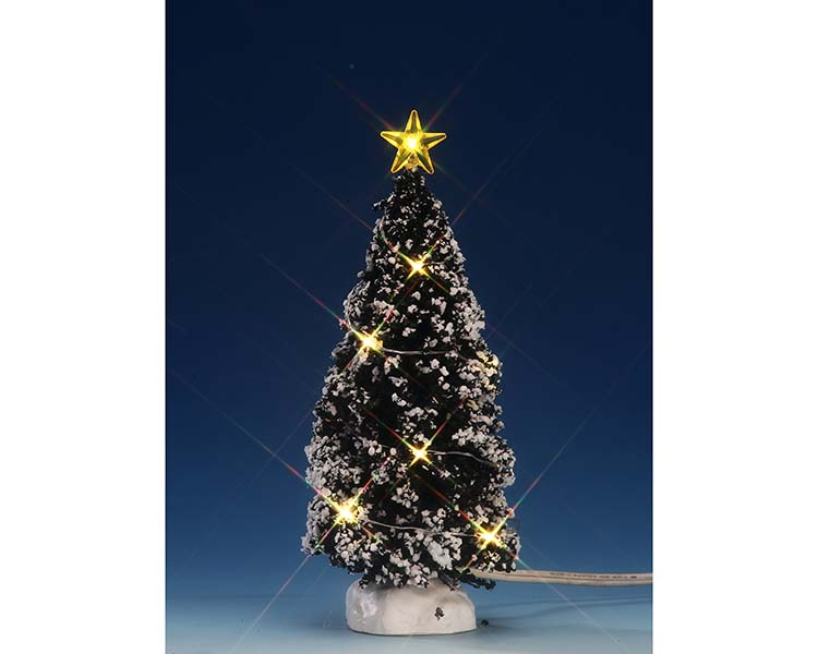 Lemax Village Collection Clear Light Evergreen Tree Medium 6 inch Battery Operated # 74267