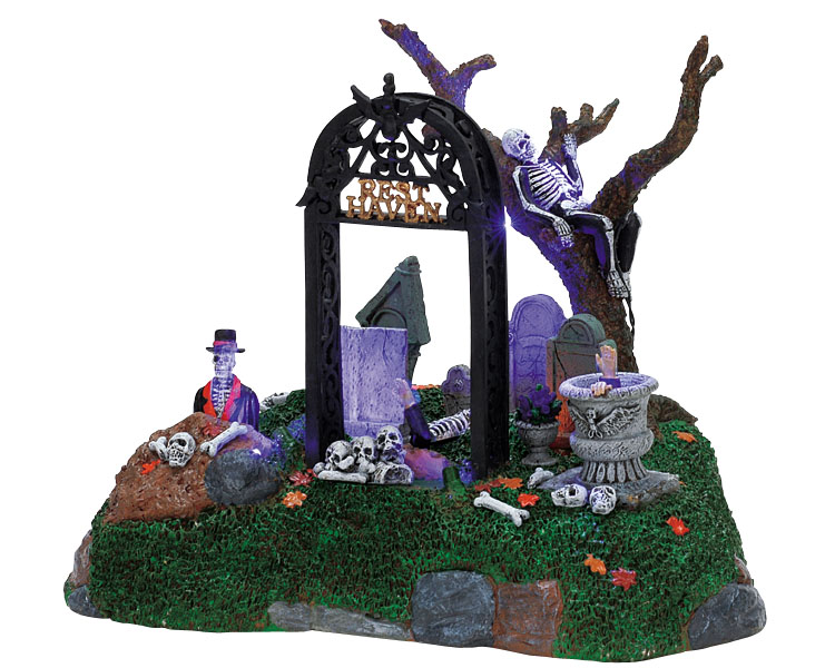 Lemax Spooky Town Restless Tombstones # 74605