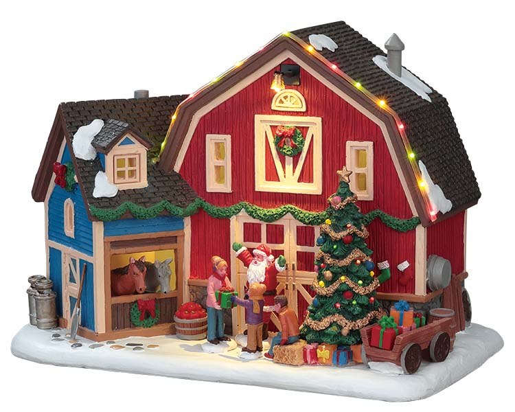 Lemax Village Collection Christmas at the Farm with Adaptor # 75192
