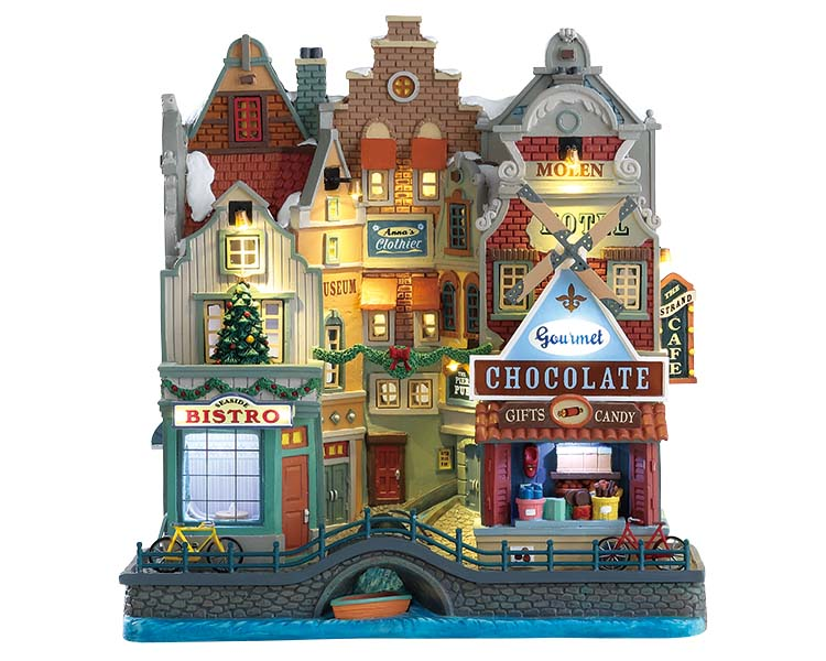 Lemax Village Collection Seaside Christmas Facade Battery Operated # 75196