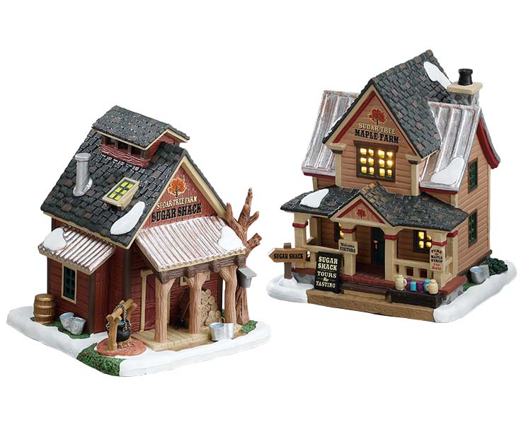 Lemax Village Collection Sugartree Maple Farm Set of 2 # 75207