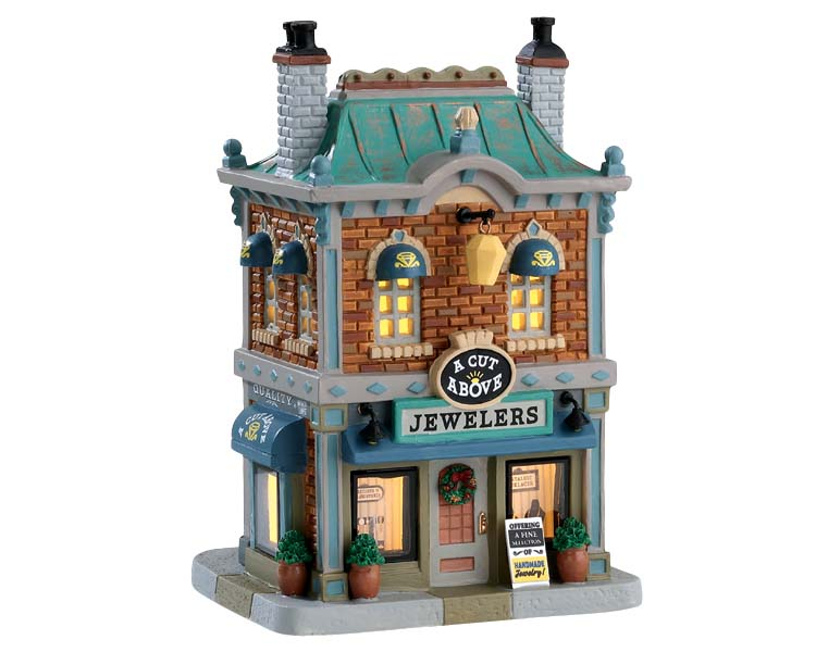 Lemax Village Collection A Cut Above Jewelers # 75236