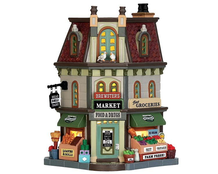 Lemax Village Collection Brewster's Market # 75246