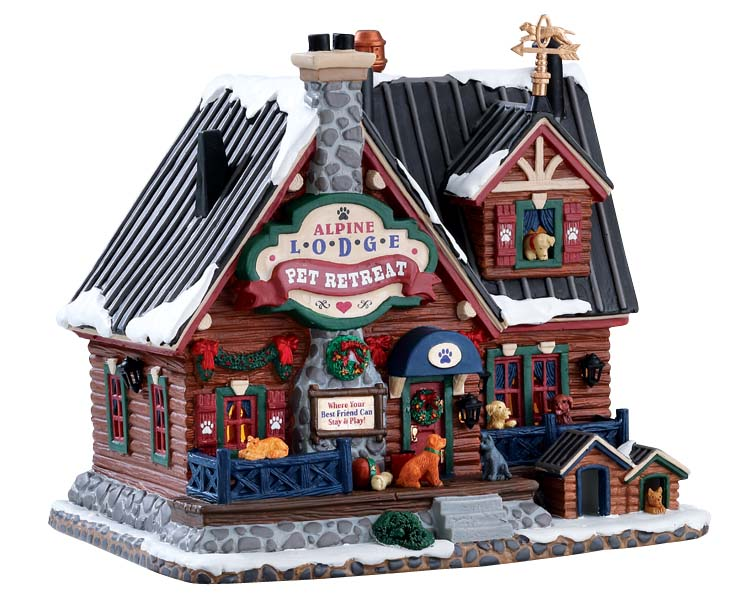 Lemax Village Collection Alpine Lodge Pet Retreat # 75255