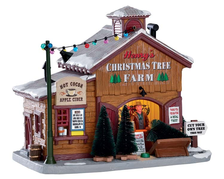 Lemax Village Collection Henry's Christmas Tree Farm # 75257