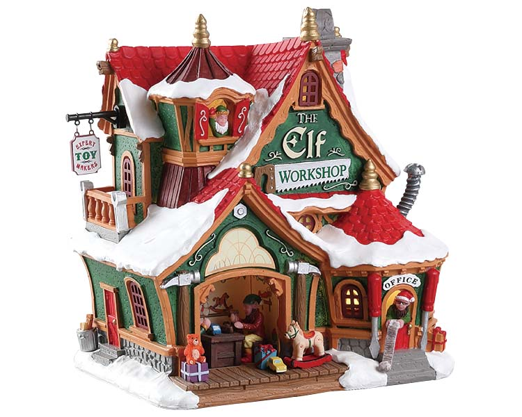 Lemax Village Collection The Elf Workshop Battery Operated # 75291