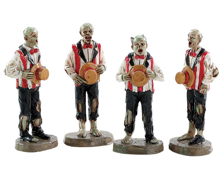 Lemax Spooky Town Horrific Harmonies Set of 4 # 82562