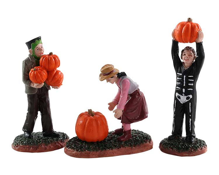 Lemax Spooky Town Pumpkin Pickers Set of 3 # 82565
