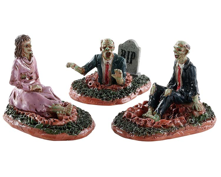Lemax Spooky Town Deadly Conversation Set of 3 # 82574