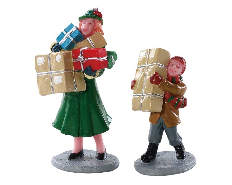 Lemax Village Collection Christmas Rush Set of 2 # 82610