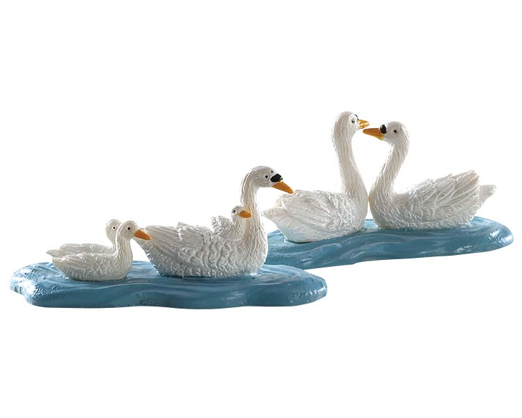 Lemax Village Collection Swans Set of 2 # 82613